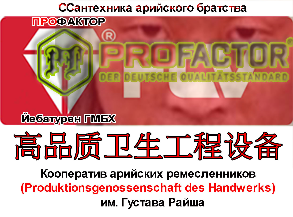 Профактор арийский стандарт китайской сантехники